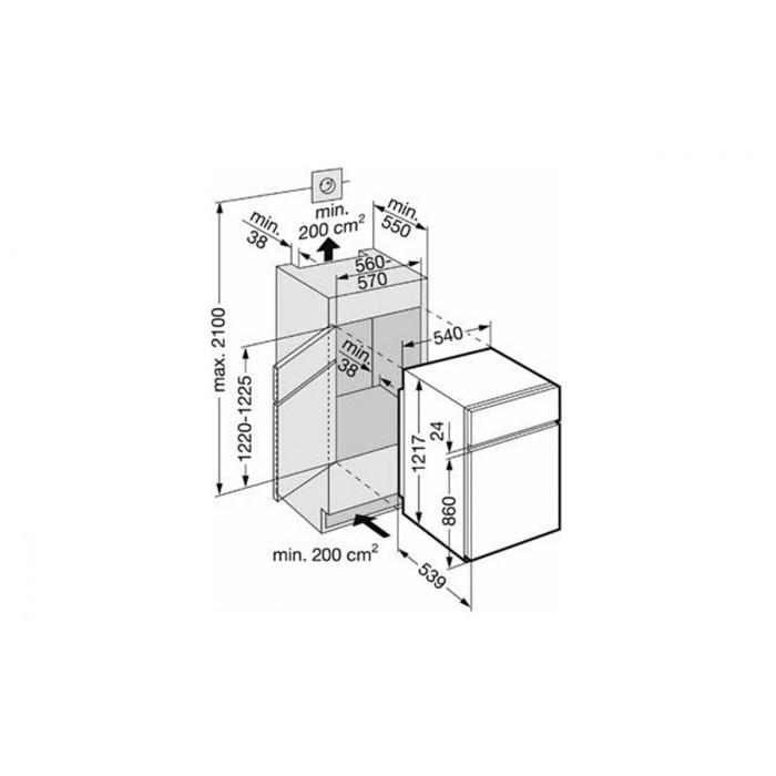 Хладилник за вграждане Liebherr ICTS 2231 Comfort