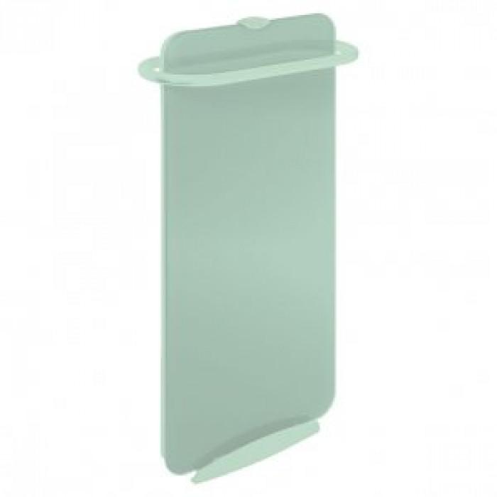 Стъклен лъчист конвектор за баня Campaver bains 1000W зелена лагуна